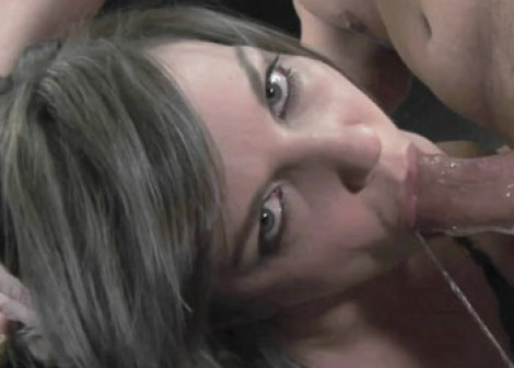 Raunchy Bobbi gets her face fucked